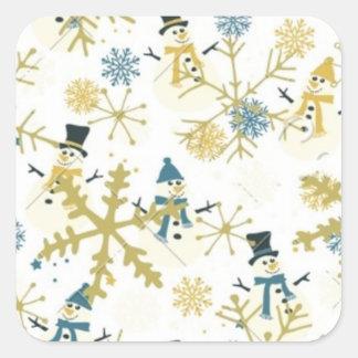 Etiquetas quadradas do White Christmas e dos