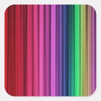 Etiquetas quadradas listradas do arco-íris adesivos quadrados