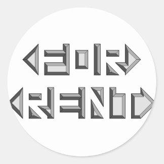 Etiquetas redondas adesivo