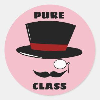Etiquetas redondas da classe pura
