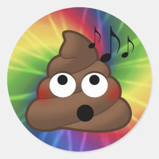 Etiquetas redondas da tintura do laço de Emoji do