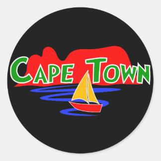 Etiquetas redondas de Cape Town África do Sul Adesivo