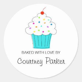 Etiquetas redondas do cupcake, da cozinha de…