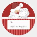Etiquetas redondas do Tag do Natal do feriado de Adesivo