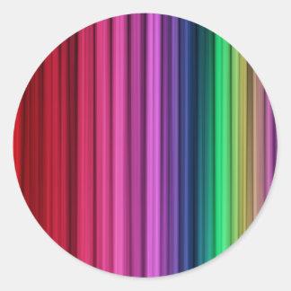 Etiquetas redondas listradas do arco-íris adesivos redondos
