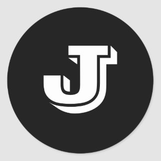 Etiquetas redondas pequenas principais da letra J