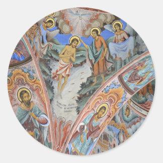 Etiquetas religiosas da foto da pintura da igreja adesivo