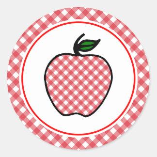 Etiquetas retros de Apple do professor Adesivo