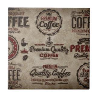 Etiquetas retros do café para amantes do café