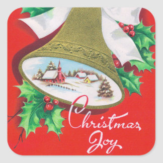 Etiquetas retros do feriado dos sinos do natal