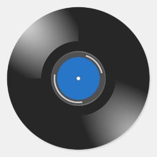 Etiquetas retros do registro do álbum do vinil