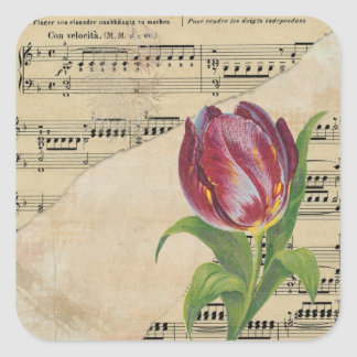 Etiquetas romances das tulipas da música do
