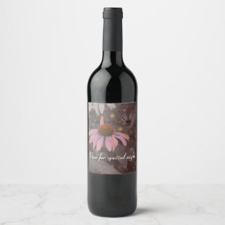 Etiquetas românticas cor-de-rosa da garrafa de