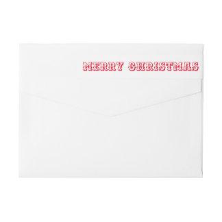 Etiquetas Roteiro corajoso vermelho da tipografia do Feliz