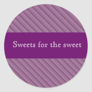 Etiquetas roxas personalizadas da listra para adesivos redondos