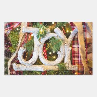 Etiquetas rústicas da alegria do Natal