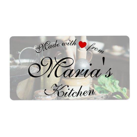 Etiquetas rústicas do cozinheiro da cozinha etiqueta de frete