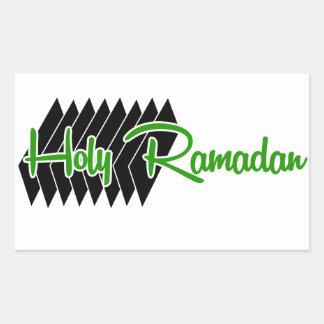 Etiquetas santamente do retângulo de Ramadan,