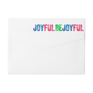 Etiquetas Seja costume colorido alegre da tipografia do