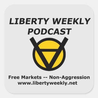 Etiquetas semanais da arte do Podcast da liberdade