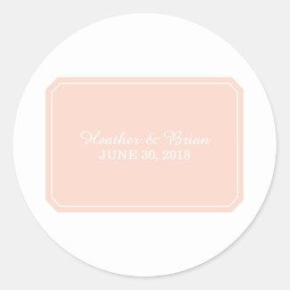 Etiquetas simplesmente elegantes do casamento do adesivo