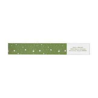 Etiquetas Sparkles e teste padrão de pontos modernos verdes