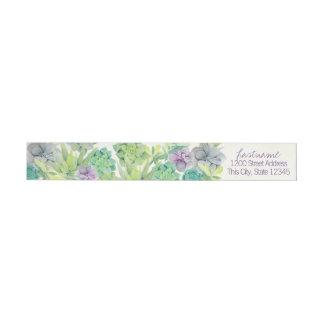 Etiquetas Succulents da aguarela que Wedding o endereço