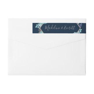Etiquetas Succulents dos azuis marinhos & casamento