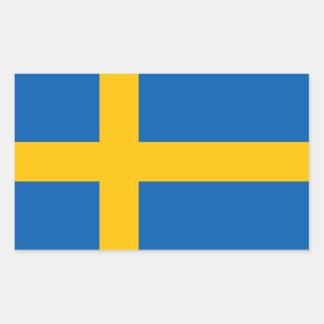 Etiquetas suecos da bandeira