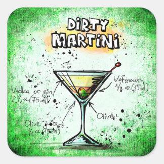 Etiquetas sujas de Martini