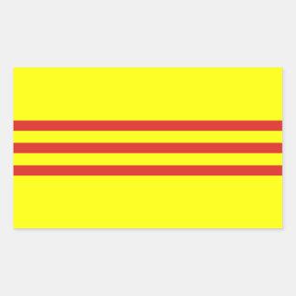 Etiquetas sul da bandeira de Vietnam* Adesivo Em Formato Retângular