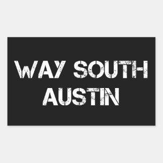 Etiquetas sul de Austin da maneira - retângulo, Adesivo Retangular