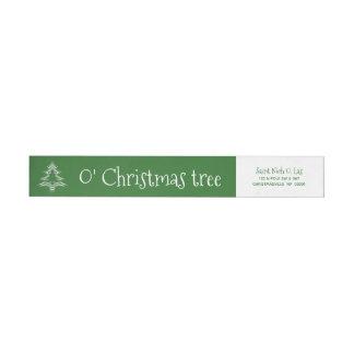 Etiquetas Teste padrão geométrico da árvore do verde e do