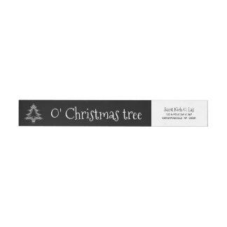 Etiquetas Teste padrão geométrico preto e branco da árvore