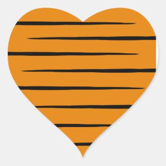 Etiquetas Tigre-Listradas Coração-Dadas forma Adesivo Coração