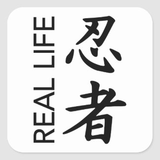 Etiquetas transparentes de Ninja da vida real