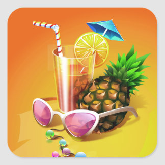 Etiquetas tropicais da bebida
