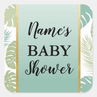 Etiquetas tropicais da palma do menino da menina