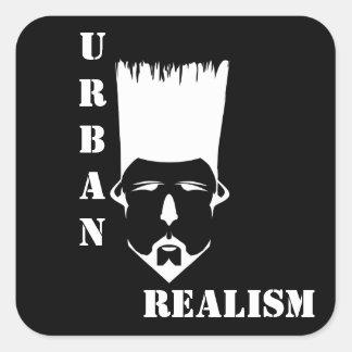 Etiquetas URBANAS do quadrado do REALISMO,