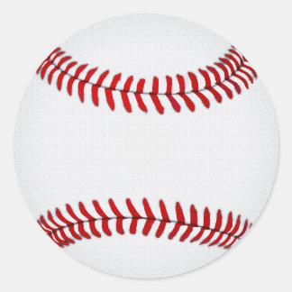 Etiquetas vazias do basebol, círculo, grande ou