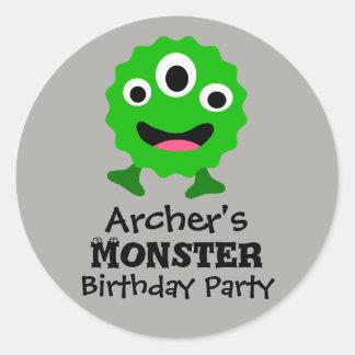Etiquetas verdes da festa de aniversário do