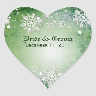Etiquetas verdes invernal do casamento