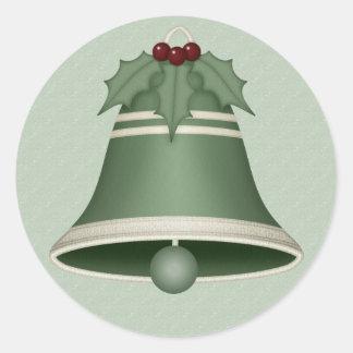 Etiquetas verdes muito alegres de Bell de Natal