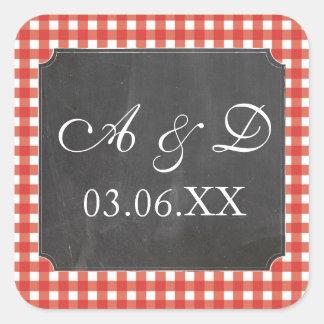 Etiquetas vermelhas das etiquetas do casamento da