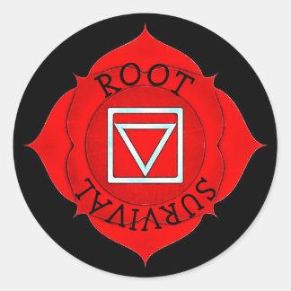 Etiquetas vermelhas de Chakra do qui da