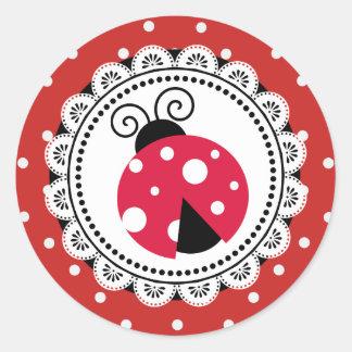 Etiquetas vermelhas do chá de fraldas da menina do