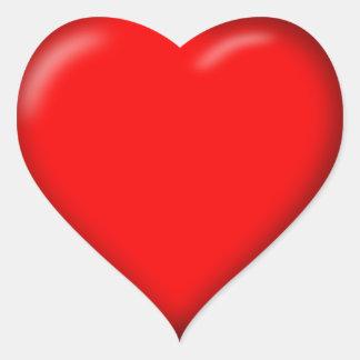 etiquetas vermelhas do coração do amor 3D Adesivo Coração