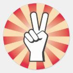 Etiquetas VERMELHAS do gajo da paz Adesivos Em Formato Redondos