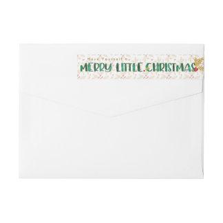Etiquetas Vermelho & aguarela do ouro alegre pouco Natal