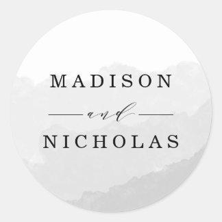 Etiquetas Wedding do favor da névoa | da aguarela